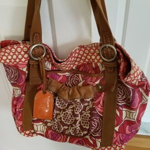Pretty FOSSIL Floral Bag